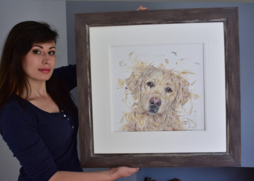 dog painting-300